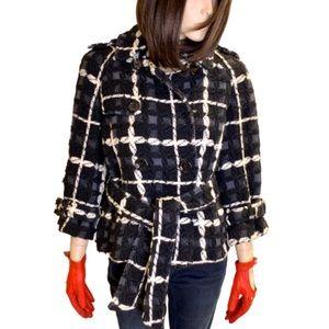 Michelle Windheuser 100% Fleece Wool Jacket Plaid